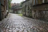 Wet Cobbled Street — Stock Photo