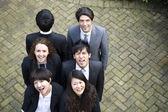 Happy multi ethnic business team — Stock Photo