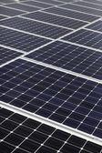 Diagonal line of solar array — Stock Photo