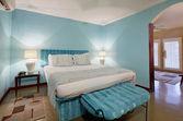 Nowoczesna sypialnia wnętrz — Zdjęcie stockowe