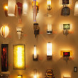 Wall lamps on display in lights store — Stock Photo #21899385