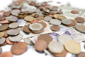 Selective focus of currencies — Stock Photo