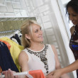 Shop Assistant Helping Customer At Clothes Shop — 图库照片 #21900461
