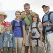 Happy Family With Backpacks — Stock Photo #21900539