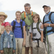 Stock Photo: Happy Family With Backpacks