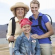 Mother, Daughter And Granddaughter Hiking — Stock Photo