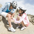 Stock Photo: Senior WomWith Scraped Knee