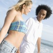 Multiethnic Couple On Beach — Stock Photo