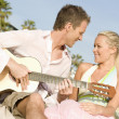 Couple With Guitar — Stock Photo