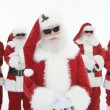 Smiling Men In Santa Claus Outfits — Stock Photo #21901523