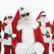 Smiling Men In Santa Claus Outfits — Stock Photo
