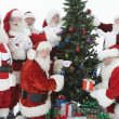 Santa Claus With Christmas Tree And Gifts — ストック写真