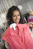 Woman Holding Pink Sleeveless Top — Stock Photo