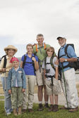 Happy Family With Backpacks — Foto Stock