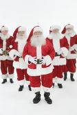 Group Of Men Dressed In Santa Claus Outfits — Stock Photo