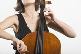 Female Cellist — Stock Photo