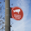 Security Camera Sign Board — Stock Photo #21929321