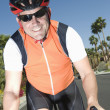 Stock Photo: Male Bicyclist Riding Bicycle