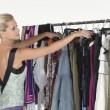 Model Selecting Dress — Stock Photo
