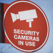 Security Camera Sign Board — Stockfoto