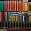 Old Books In Bookshelves — Stock Photo