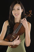 Portrait Of Female Asian Violinist — Stock Photo