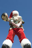 Santa Claus Holding Golf Club — Stock Photo