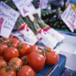 Tomatoes On Sale At Market Stall — Foto Stock