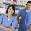Pharmacists In Hospital Room — Stock Photo