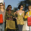 Diverse Women Carrying Shopping Bags — Stock Photo