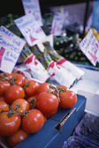 Tomatoes On Sale At Market Stall — Stock Photo