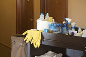 Cleaners Trolley In A Hotel — Stock Photo