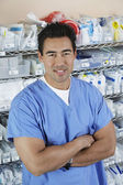 Male Nurse With Arms Crossed — Stock Photo