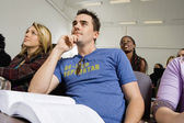 Student Listening To Lecture — Stock Photo