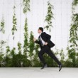 Businessman Running Outdoors — Foto de Stock