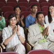 Applauding At A Performance — Foto Stock
