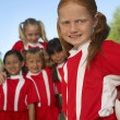 Stock Photo: Group of Girl Soccer Players