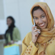 Happy Indian Female On Call — Stock Photo