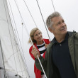 Caucasian Couple On Yacht — Stock Photo #21948927