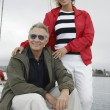 Couple On Sailboat During Vacations — Stock Photo #21948957