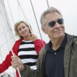 Couple On Standing Yacht — Stock Photo #21948961