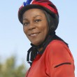 Woman Wearing Cycling Helmet — Stock Photo #21949067