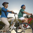 Friends Riding Bicycles - Foto de Stock