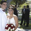 Happy Couple At Quinceanera - Stock Photo