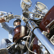 Biker Riding Motorcycle — Foto de Stock