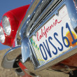 Closeup Of Number Plate On Car — Stock Photo