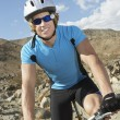 Man Riding A Mountain Bike — Stock Photo