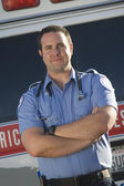 Portrait of a confident middle aged EMT doctor — Stock Photo
