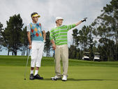 Male Friends Golfing Together — Stok fotoğraf