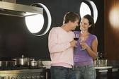 Couple Having Wine — Stock Photo
